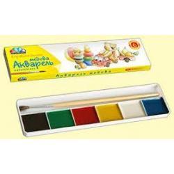 Краска акварельная  6цв.  311032 картон