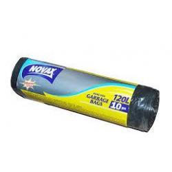 Пакет/сміття 120л*10шт Novax