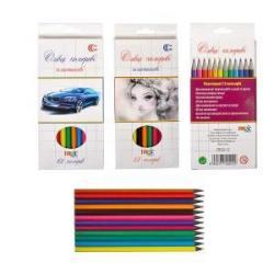 Кольорові олівці 12кол. пластик К12СНВ