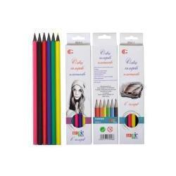 Кольорові олівці 6кол. пластик К6СНВ