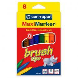 "Фломастери Centropen 8773/8 8кол. ""Brush"" пензлик"