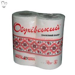 Папір туалетний Обухівський (4шт/уп)  2-х шар.