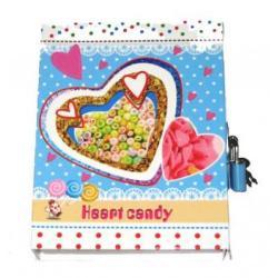 Блокнот дит. 64К-0193/531/644 Серце 12,5*16,5 54арк. з ключиком в коробці