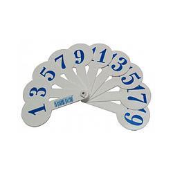 Віяло цифри та геометричні фігури ВЦВКФ 23249