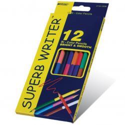 """Кольрові олівці 4110-12СВ 12 шт 24кол. двосторонні """"Super write"""""""