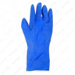 Рукавицы резиновые синие