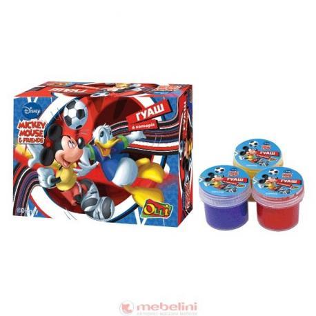 Гуаш 6 кол. Mickey Mouse Soccer 10мл 035DM