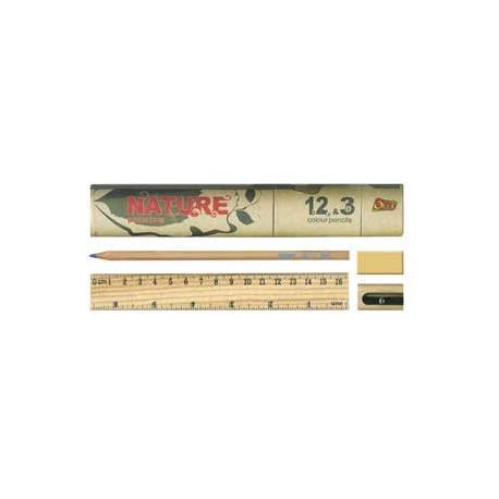 Кольрові олівці 12кол.+3HB Nature 681-15