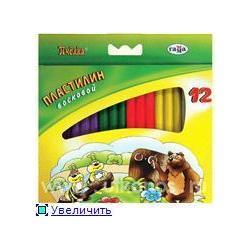 Пластилин Гамма Мультики 240г 12цвет. воск
