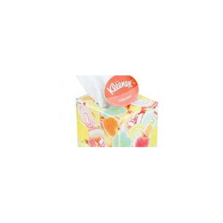 Салфетки бумажные Клинекс в коробке куб 56*12