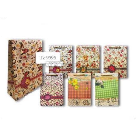 Пакет паперовий подарунковий 37*28*10 Квіти TZ 9595