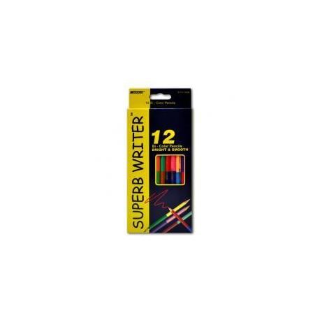 """Кольрові олівці 4110-12СВ 24кол. двосторонні """"Super write"""""""