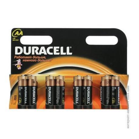 Елемент живлення Duracell Basic АА LR6  (8шт/уп)