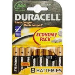 Елемент питания Duracell Basic ААА LR03  (8шт/уп)