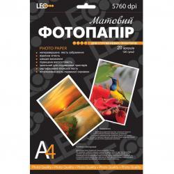 Фотопапір А4 720144 120г 20арк L3739