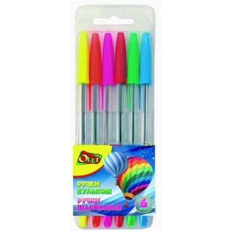 Набір ручок кульк. Olli 214-6 6 кол.