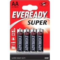 Елемент питания Eveready SHD AA/R6   4шт/уп бл.