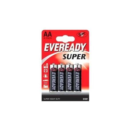 Елемент живлення Eveready SHD AA/R6   4шт/уп бл.