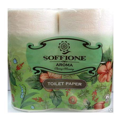 Папір туалетний Соффіне (4шт/уп)  2-х шар.