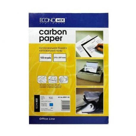 Папір копіювальний А4 синя Е20501-02 100л.