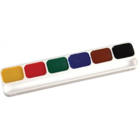 "Акварель медова н/с""AFRICA"", 6 кольорів, б/пензлика, картон Е60107"