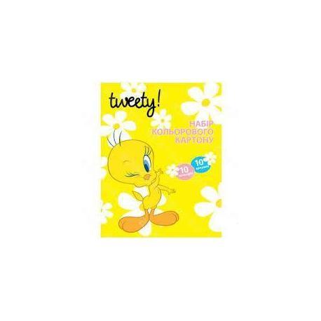 """Картон кольоровий """"Tweety"""", А4 10 арк. TW05200"""