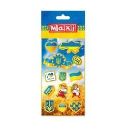 """Наліпки полімерні пласкі """"Україна"""", 10*18см O25160"""