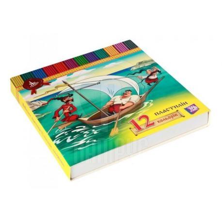 """Пластилін """"ЯкКозаки"""", 12 кольорів, 240г., картон KZ01603"""