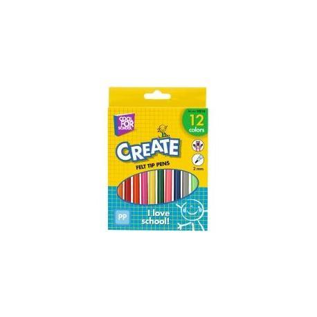 Фломастери кольорові, 12шт в коробці CF15216