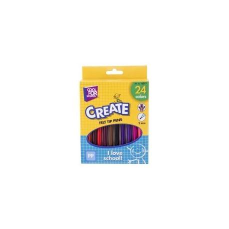 Фломастери кольорові, 24 шт в коробці CF15217