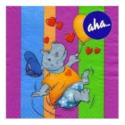 Серветки паперові АХА 33*33 20шт/уп 3-шарові Дитячі