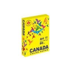 Папір кол. А4 80г 100арк. CANADA CN2016 інтенсив жовтий