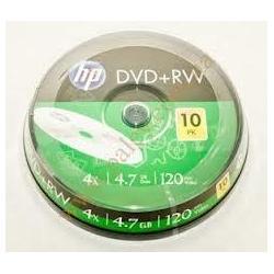 Диски  DVD+RW HP