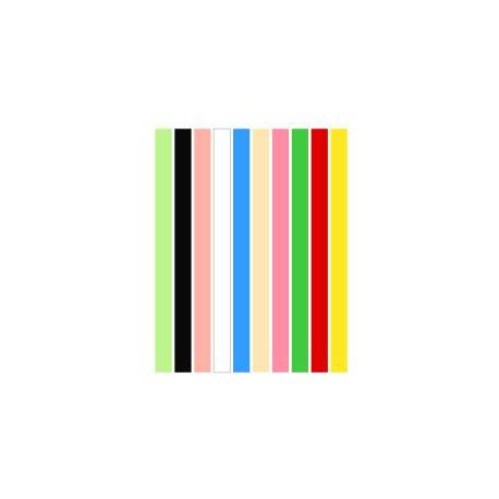 Набор полосок бумаги для квиллинга, 10 цветов, 5х295 мм, 80 г/м2, 200 шт. QP-80