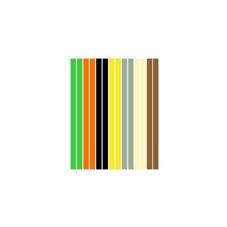 Набор полосок бумаги для квиллинга, 6 цветов, 7х295 мм, 160 г/м2, 100 шт. QP-160