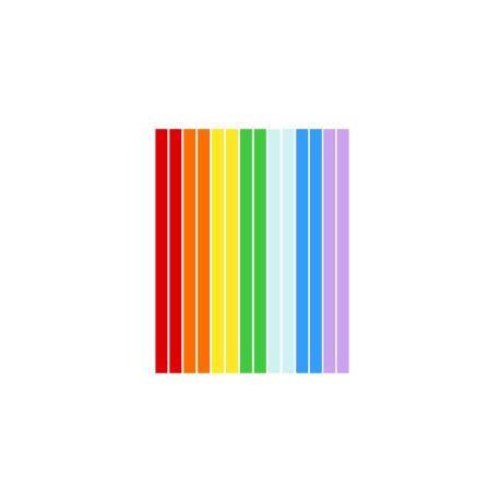 Набор полосок бумаги для квиллинга, 7 цветов, 3х295 мм, 160 г/м2, 100 шт. QP-160