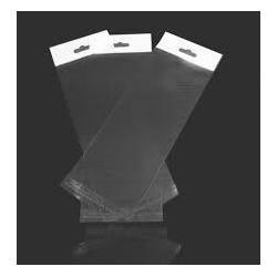 Прозрачная упаковка с клеющим слоем и европодвесом, 10х15 см DP-012