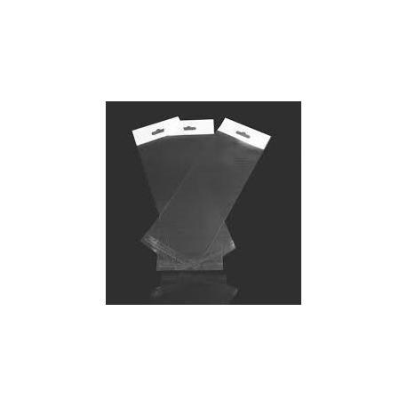 Прозрачная упаковка с клеющим слоем и европодвесом, 15х20 см DP-013