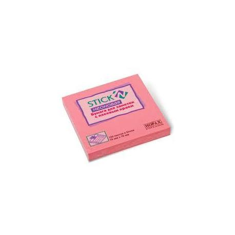 Стікер 76*76 кол.неон рожевий 21166 HOPAX