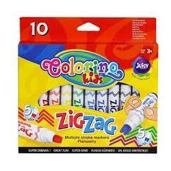 Фломастеры ZIG ZAG 10 цв. COLORINO 34647PTR