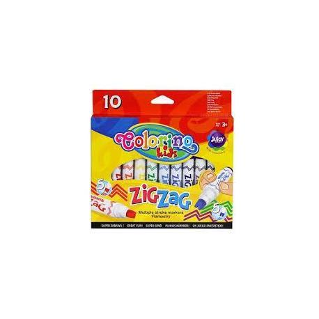 Фломастери ZIG ZAG 10 кольорів COLORINO 34647PTR