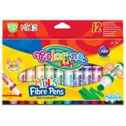 Фломастери міні змивальні 12 кольорів COLORINO 32117PTR