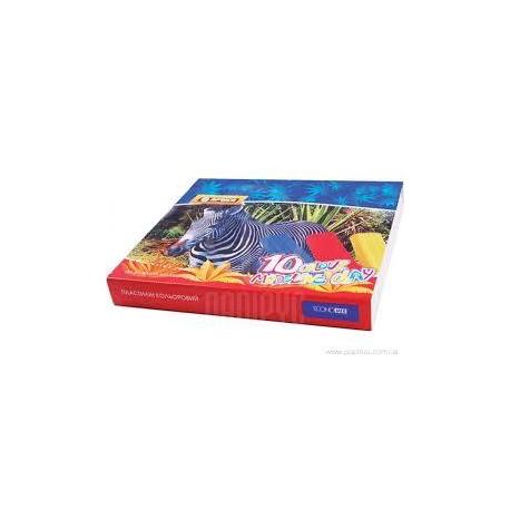 "Пластилін 10 кольорів ""AFRICA"", 200гр., картон Е60607"