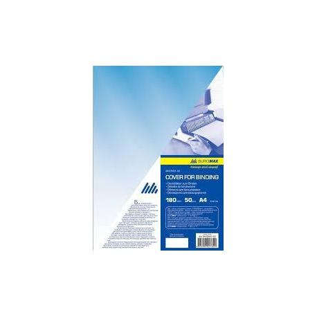 Обкладинка А4 прозора синя 180мкм 20арк/уп ВМ.0561-02