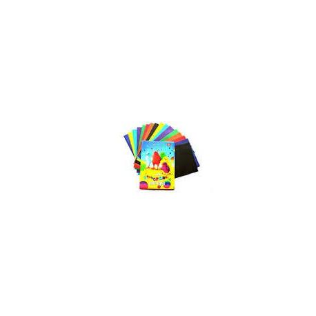 Папір кольоровий А4 16арк.скоба  мелована лак Бумвест 2В05   2В14