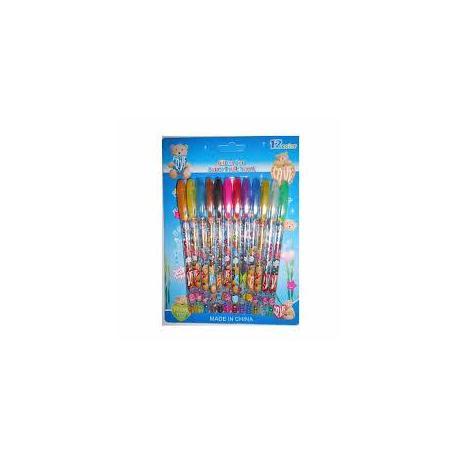 Набір гелевих ручок 24кол. JO 8004-12 блиск