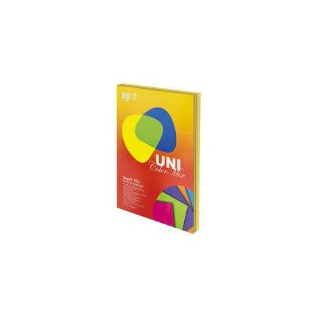 Папір кол. А4 80г 250арк. Uni Color Super Mix 10кол.154011