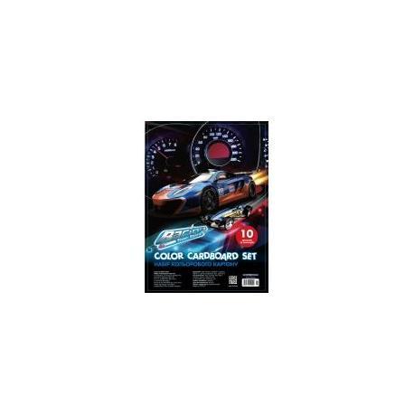 """Набір кольорового картону """"CFS"""", А5 10арк. CF21002"""
