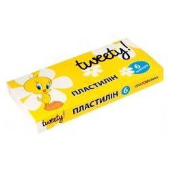 """Пластилін """"Tweety"""", 6 кольорів, 120г., картон TW05600"""