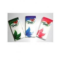Сухі паперові хустинки Тенто 2-х шарові